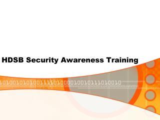 HDSB Security Awareness Training