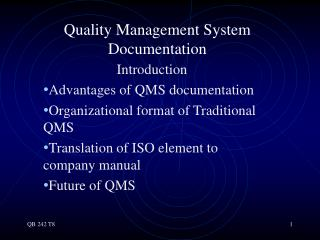 Quality Management System Documentation
