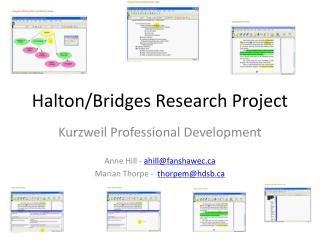 Halton/Bridges Research Project