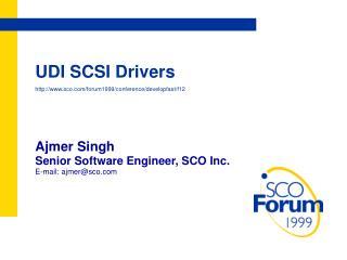 UDI SCSI Drivers