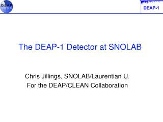 The DEAP-1 Detector at SNOLAB