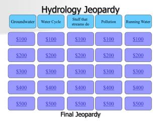 Hydrology  Dissolved Oxygen