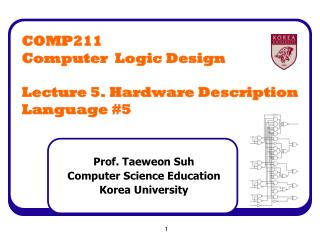 COMP211 Computer  Logic Design Lecture 5. Hardware Description Language #5