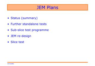 JEM Plans