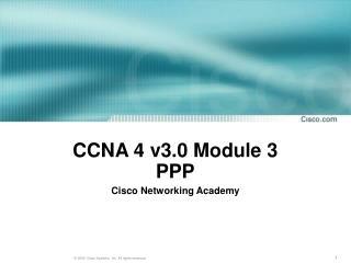 CCNA 4 v3.0 Module 3  PPP