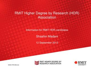 Higher Degrees by Research?