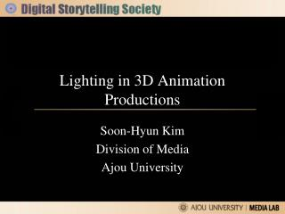 Lighting in 3D Animation Productions