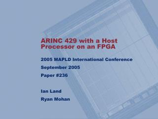 ARINC 429 with a Host Processor on an FPGA