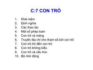 C:7 CON TR?