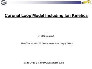 Coronal Loop Model Including Ion Kinetics