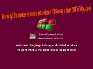 web-based language training and related services