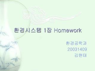 환경시스템  1 장  Homework