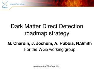 Dark Matter Direct Detection roadmap strategy