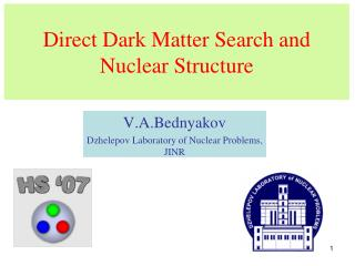 Direct Dark Matter Search and Nuclear Structure