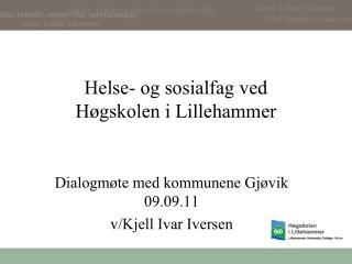 Helse- og sosialfag ved Høgskolen i Lillehammer