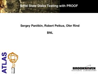 Solid State Disks Testing with PROOF