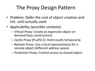 The Proxy Design Pattern