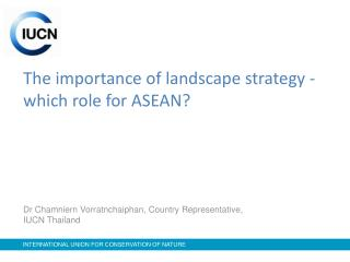 The importance of landscape strategy -  which role for ASEAN?