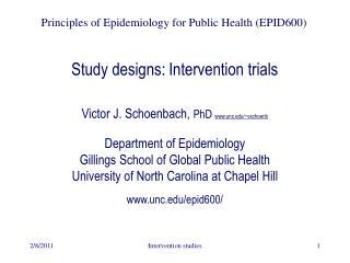 Study designs: Intervention trials