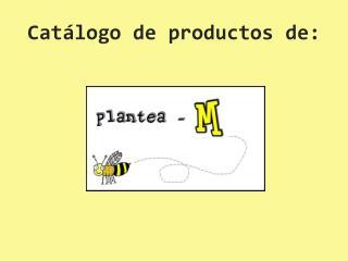 Cat�logo de productos de:
