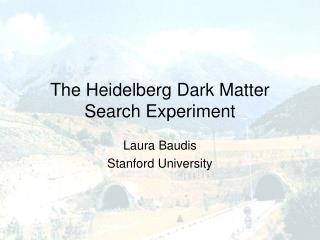 The Heidelberg Dark Matter Search Experiment