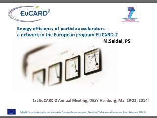 Energy efficiency of particle accelerators �  a  network in the European program EUCARD-2