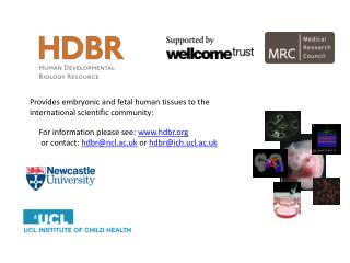 For information please see:  hdbr  or contact:  hdbr@ncl.ac.uk  or  hdbr@ich.ucl.ac.uk