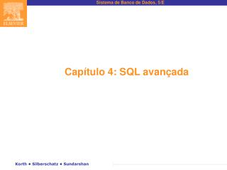 Capítulo 4: SQL avançada