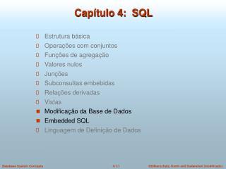 Capítulo 4:  SQL