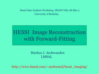 HESSI  Image Reconstruction with Forward-Fitting Algorithm