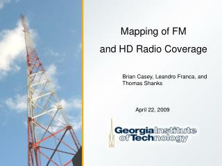 Mapping of FM  and HD Radio Coverage
