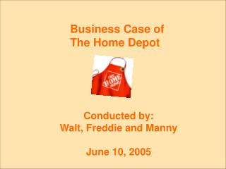 Conducted by: Walt, Freddie and Manny June 10, 2005