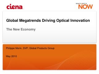 Global Megatrends Driving Optical Innovation The New Economy