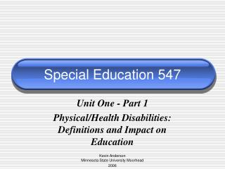Special Education 547
