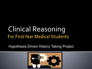 For First Year Medical Students