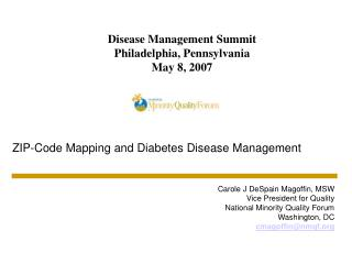 Disease Management Summit Philadelphia, Pennsylvania May 8, 2007