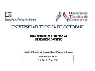 UNIVERSIDAD T�CNICA DE  COTOPAXI