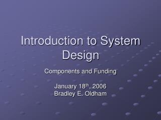 Introduction to System Design