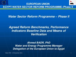 Water Sector Reform Programme – Phase II