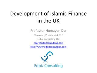 Development of Islamic Finance in the UK
