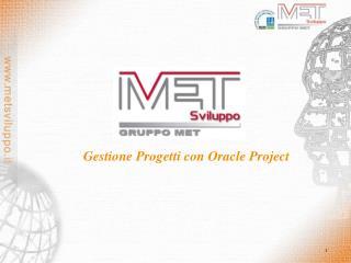 Gestione Progetti con Oracle Project