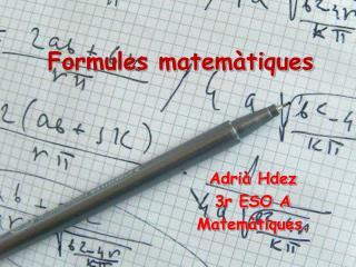 Formules matemàtiques