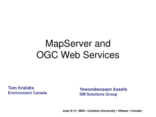 OpenGIS, GML, WMS