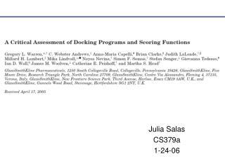 Julia Salas CS379a 1-24-06