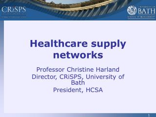 Healthcare supply networks