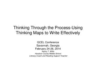 Thinking Through the Process-Using Thinking Maps to Write Effectively