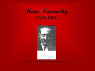 Hans Nawiasky (1880-1961)