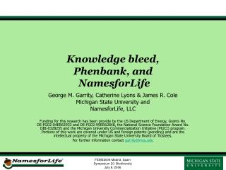 Knowledge bleed, Phenbank, and  NamesforLife