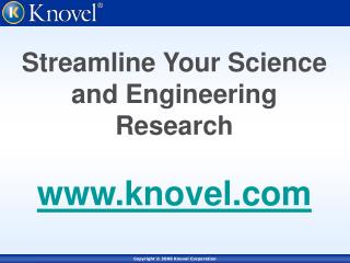Streamline Your Science and Engineering Research  knovel