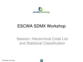 ESCWA SDMX Workshop